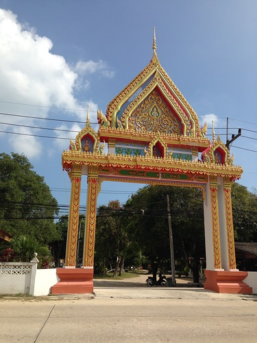 Вход в монастырь буддийского храма Ват По